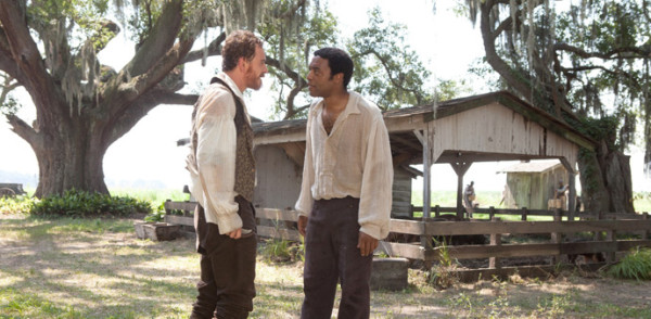 12 Years a Slave - Edwin (Fassbender), Solomon (Ejiofor) - copyright Ascot Elite Entertainment Group