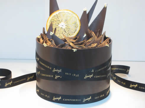 Jubilee chocolate cake from Sprüngli