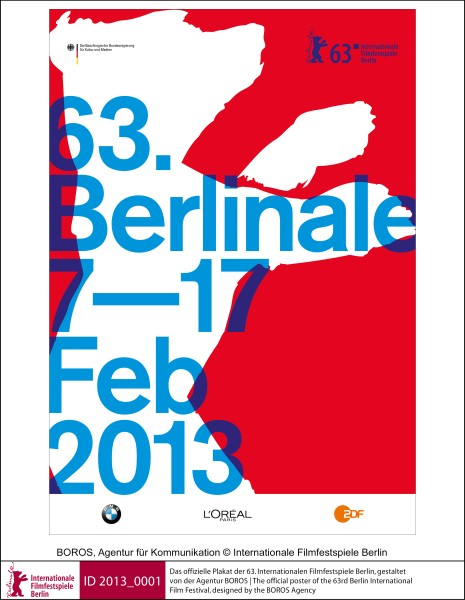 The official poster of the 63rd Berlin International Film Festival, designed by the BOROS Agency - Copyright Berlinale