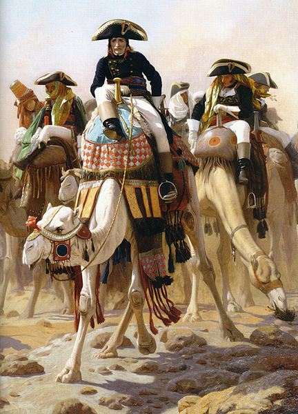 Napoleon Bonapartre in Egypt painted by Jean-Léon Gérome in 1863