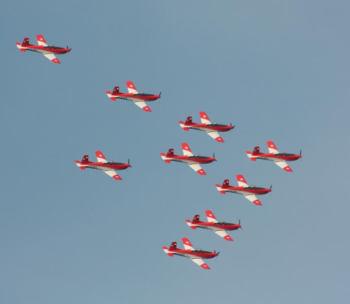 Airplane show Zueri Faescht 2010