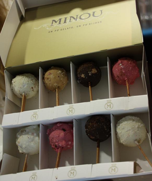 A box of Minou ice-creams - copyright Véronique Gray