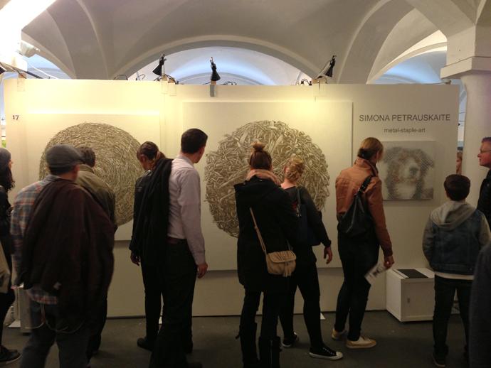People looking at Petrauskaite Stand, Artmuc in Munich - copyright Simona Petrauskaite