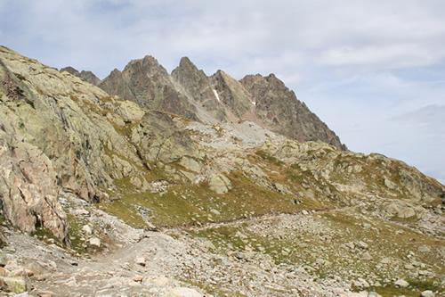 Aiguilles Rouges Reserve path on the way to the Lac Blanc