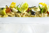 """Albacore"", an appetizer from Eric Ripert, French chef at Le Bernardin in New York"