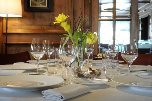 A table in the Albert 1er Restaurant in Chamonix – copyright Albert 1er Restaurant