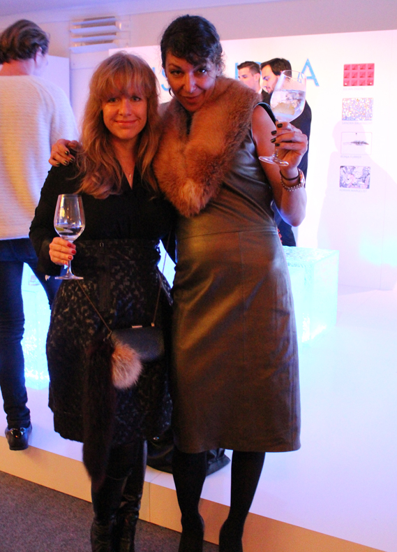 Alexandra Pfister from Assandri (left) with her assistant Sonia at the Mercedes Benz Fashion Days Zurich - copyright Veronique Gray