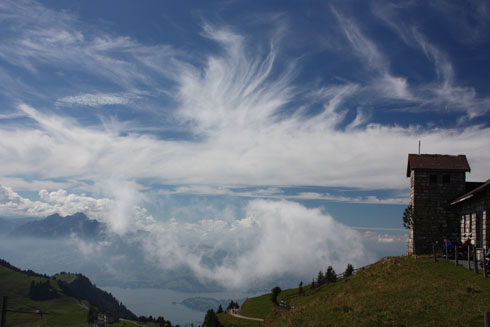 Amazing sky at Rigi Kulm