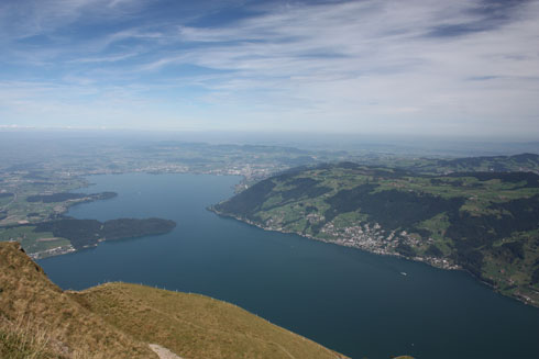 View of the Lucerne lake from Rigi/Kulm