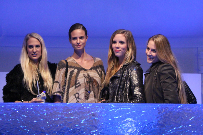 At the VIP tent of the Mercedes Benz Fashion Days - with model Nina Ardizzone (2nd from the left) - copyright Veronique Gray