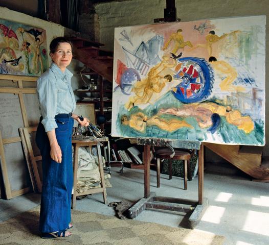 Hélène de Beauvoir in her atelier - copyright Galerie Hammer, Regensburg