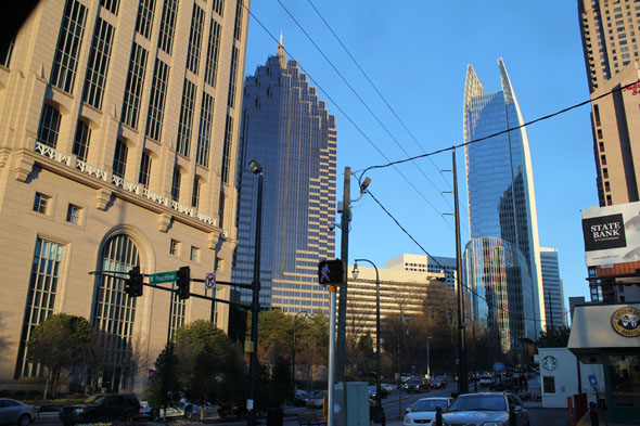 Atlanta skyscrapers with Symphony Tower (Right)