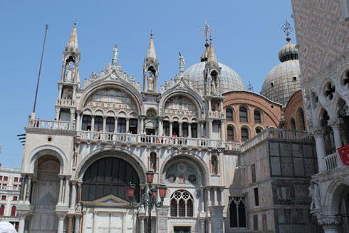Basilica on St. Marco square in Venice