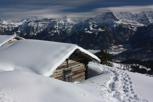Beatenberg winter scenery