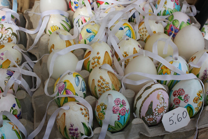 Beautiful Easter eggs in Vienna