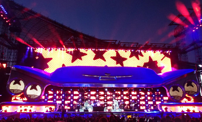 Beautiful light effects at the Bon Jovi concert in Munich