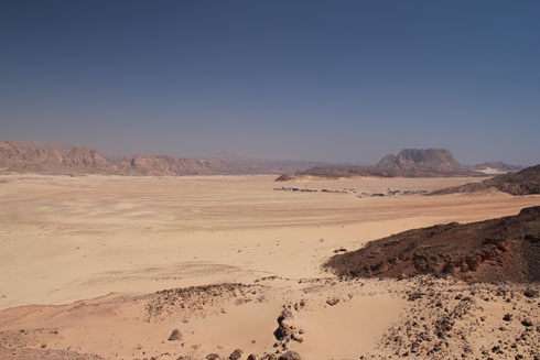 Beautiful Sinai desert on the way to St Catherine monastery