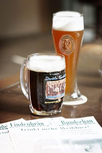 Beers at Lindenbräu restaurant at the Sony Center in Berlin - copyright Daniel Schwab 2006