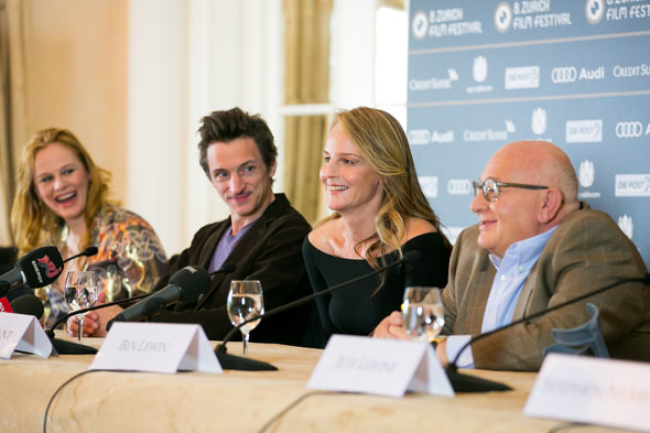 Ben Lewin, Helen Hunt, John Hawkes and Blake Lindsley at the ZFF - copyright ZFF