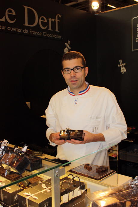 Bruno Le Derf at the salon du chocolat in Paris - crédit Photo Véronique Gray