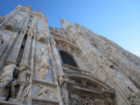 Cathedral sculptures-  left side of front facade
