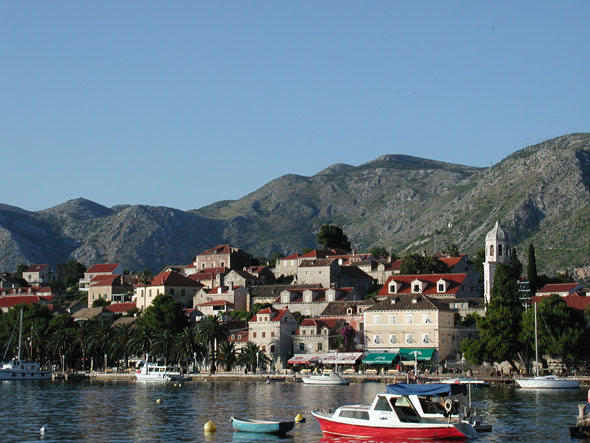 visiting the village of Cavtat in Croatia in June