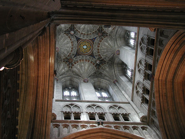Fan ceiling of the cathedral of Canterbury in England