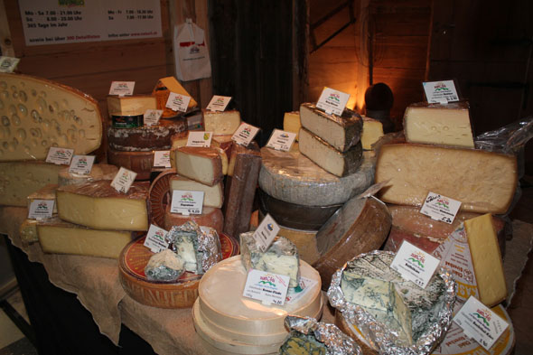 Cheese display at the Gourmesse