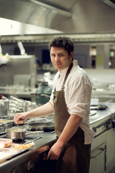 Chef Nenad Mlinarevic preparing his 5 course menu at the Park Hotel Vitznau - copyright Moet Hennessy