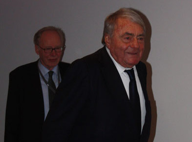 Claude Lanzmann with Gregor Ulrich