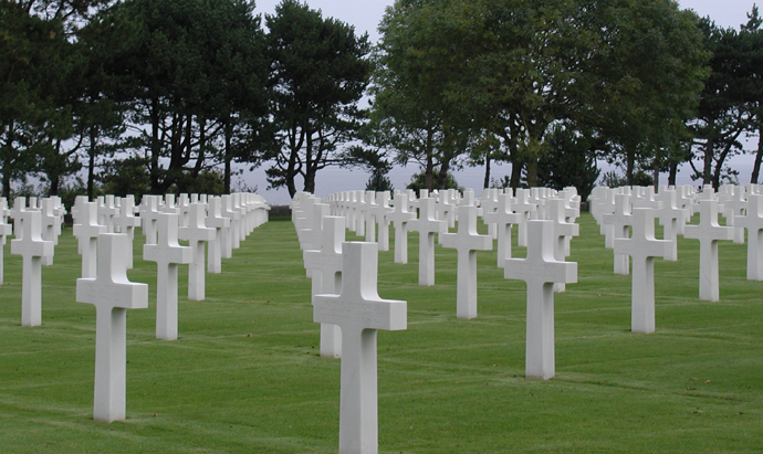 American cemetery in Colleville sur Mer, Basse Normandy - copyright Veronique GRAY