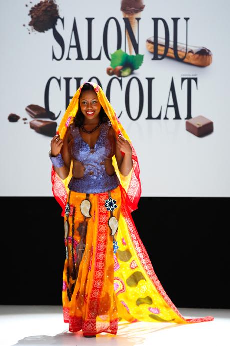 DEFILE  Salon du chocolat 2012 - DELICIEUSE MAHARAJANE - ELE ASU - copyright Raffoux