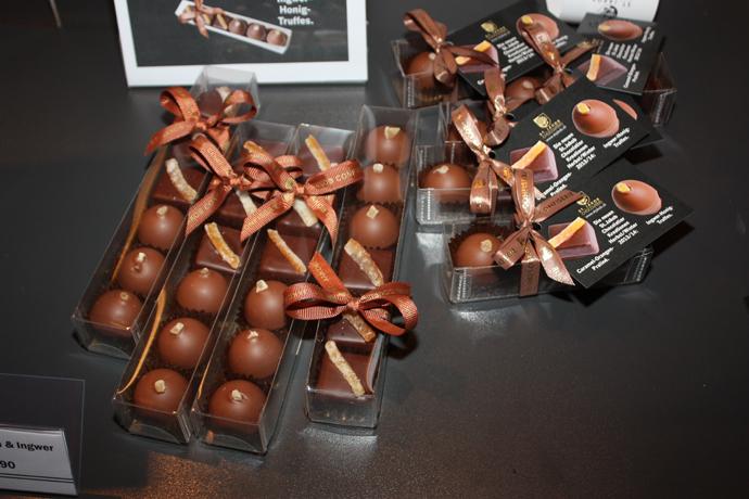 Delicious chocolates with ginger - copyright Véronique Gray