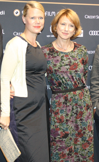 Director of Finsterworld Frauke Finsterwalder with German actress Corinna Harfouch - copyright Veronique Gray