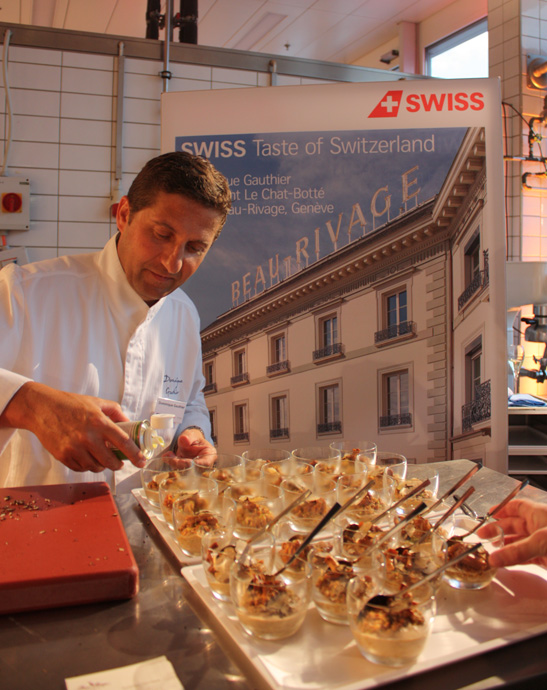 Dominique Gauthier from Beau Rivage Hotel in Geneva at Il Tavolo - copyright Veronique Gray