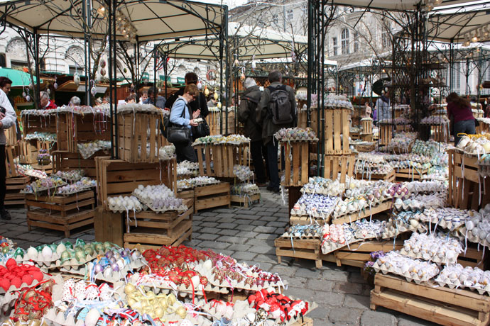 Easter market Freyung, Vienna