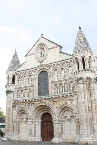 Entrance of the Notre Dame la Grande church in Poitiers