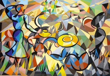 Erntearbeiterinnenmit Sicheln Moissonneuses avec faucilles-1956- copyright Galerie Hammer. Regensburg