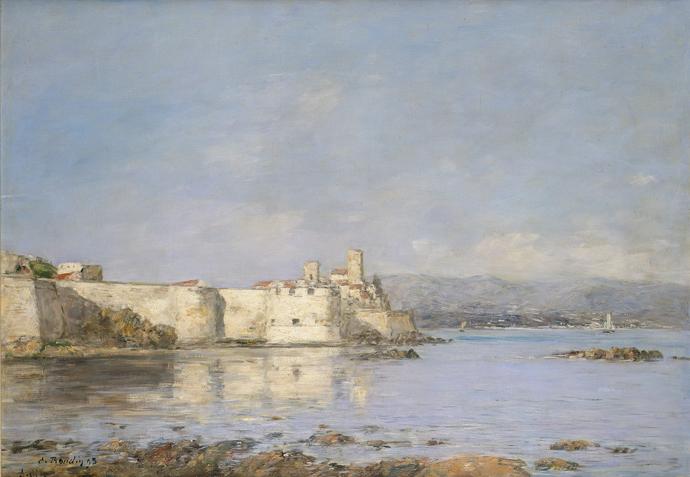 Eugène Boudin - Antibes. Les Fortifications. Effet de jour - 1893 Image autorisée à Aude Durand Musée Jacquemart-André par Aude Durand