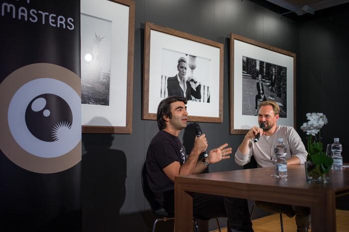 Fatih Akin and moderator at ZFF Master class - copyright ZFF