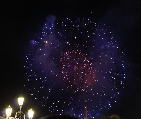 Fireworks for the Redentore Festival