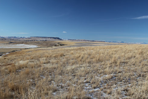 First Buffalo Jump Park Cliff