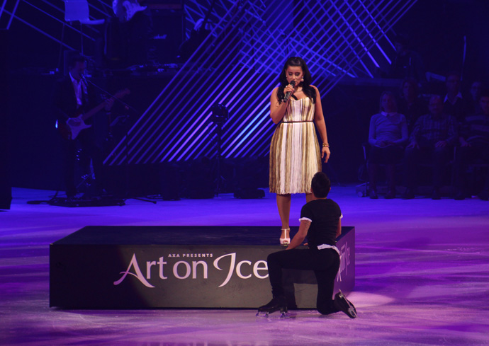 Florent Amodio and Nelly Furtado at Art on Ice 2015 - Credit photo Veronique Gray