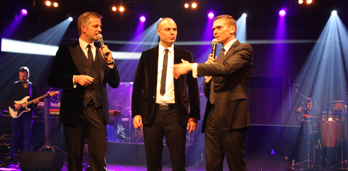 Founders of Art on Ice Reto Caviezel (Right) and Oliver Höner (Left) at the after-show party