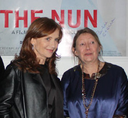 Francoise Lebrun, Isabelle Huppert, Pauline Etienne and Louise Bourgouin at the Institut Francais in Berlin