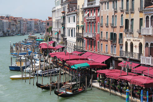 View of the Canal Grande from the Rialto