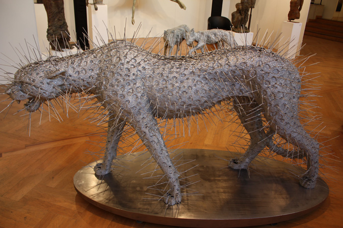 Gallery Geist with Leopard with spikes from David Mach Ra