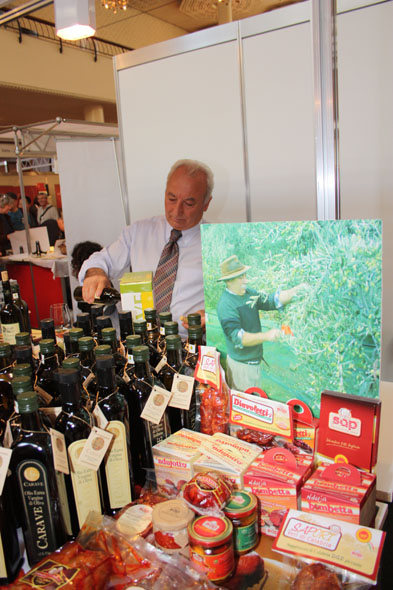 Gourmesse 2012 - Olive oil stand Carave from Calabria with Mr Zito Girolamo