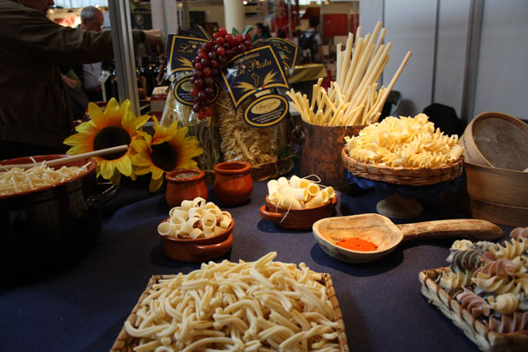 Gourmesse 2012 Pasta stand from Pastificio Falbo Imperiale in Mandatoriccio
