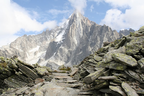 Rocky panorama on the Grand Balcon Nord Trail, Chamonix
